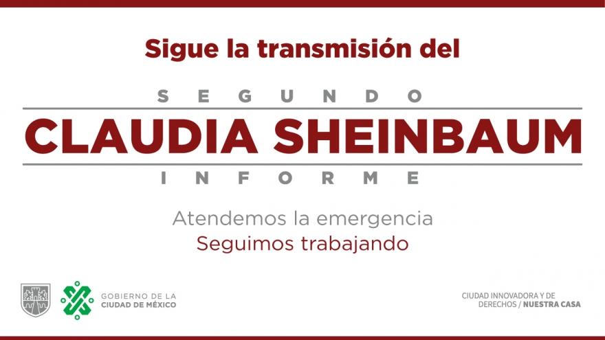 Sigue la transmisión del Segundo Informe de Gobierno de la Ciudad de México